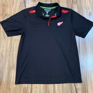 Detroit Red Wings Reebok Center Ice Mens Polo Shir